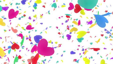 Heart petals rainbow tornado Dw 4k Animation