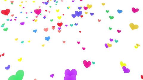 Heart petals rainbow tornado Ja 4k Stock Video Footage