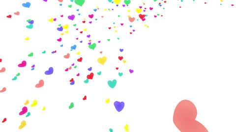 Heart petals rainbow tornado Jb 4k Stock Video Footage