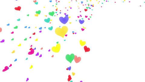 Heart petals rainbow tornado Jb 4k Animation