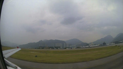 (Timelapse) Hong Kong Airport Flight to Central China Stock Video Footage
