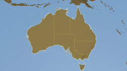 Australian Capital Territory extruded. Bumps Stock Video Footage