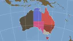 Australian Capital Territory extruded. Solids Stock Video Footage
