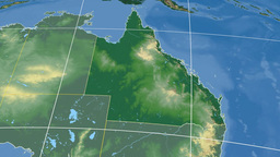 Queensland extruded. Bumps shaded Stock Video Footage