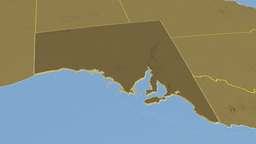 South Australia extruded. Bumps Animation