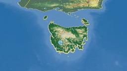 Tasmania extruded. Bumps shaded Animation