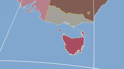 Tasmania extruded. Solids Stock Video Footage