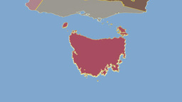 Tasmania extruded. Solids Animation