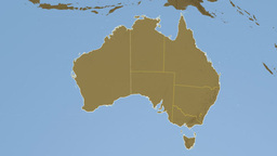 Western Australia extruded. Bumps Stock Video Footage