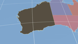 Western Australia extruded. Solids Stock Video Footage