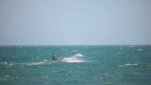 Kite surfer Stock Video Footage