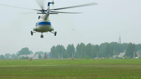 Helicopter take-off Stock Video Footage