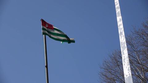 Flag of Abkhazia Republic Live Action