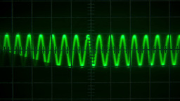 Old oscilloscope Stock Video Footage