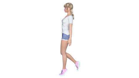 4k 歩く女性 Stock Video Footage