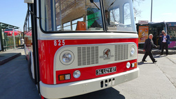 Nostalgic Buses Back On Istanbul Roads stock footage