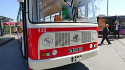 Nostalgic Buses Back On Istanbul Roads stock footage