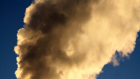 Smoke from a pipe Stock Video Footage