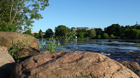 View of the rapid river Stock Video Footage