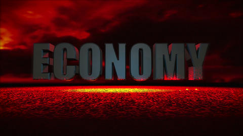 Economy Meltdown (Cloudy Sky) Stock Video Footage