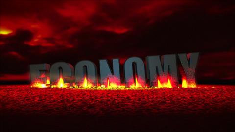 Economy Meltdown (Cloudy Sky) Animation
