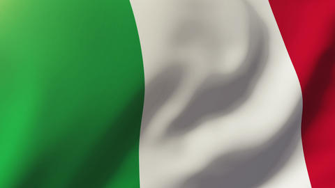 Italy flag waving in the wind. Looping sun rises style. Animation loop Animation