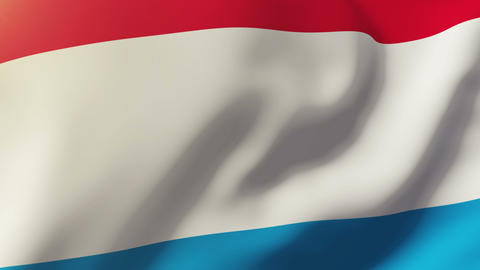 Luxembourg flag waving in the wind. Looping sun rises style. Animation loop Animation