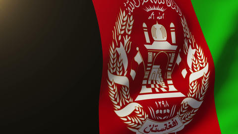 Afghanistan flag waving in the wind. Looping sun rises style. Animation loop Animation