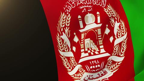 Afghanistan flag waving in the wind. Looping sun rises... Stock Video Footage