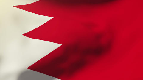 Bahrain flag waving in the wind. Looping sun rises style.... Stock Video Footage