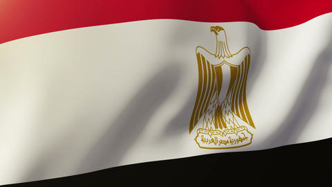 Egypt flag waving in the wind. Looping sun rises style. Animation loop Animation