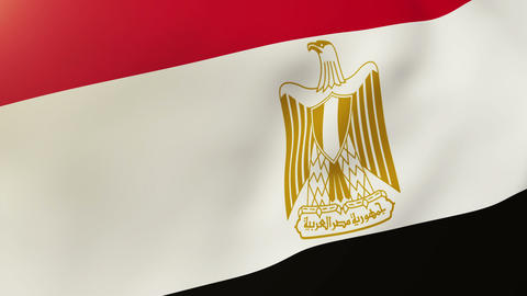 Egypt flag waving in the wind. Looping sun rises style.... Stock Video Footage