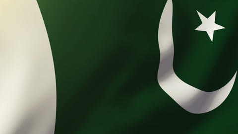 Pakistan flag waving in the wind. Looping sun rises style. Animation loop Animation
