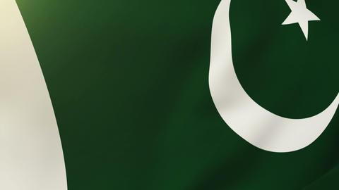 Pakistan flag waving in the wind. Looping sun rises... Stock Video Footage