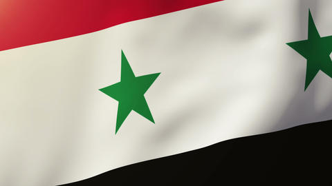 Syria flag waving in the wind. Looping sun rises style.... Stock Video Footage