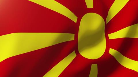 Macedonia flag waving in the wind. Looping sun rises... Stock Video Footage