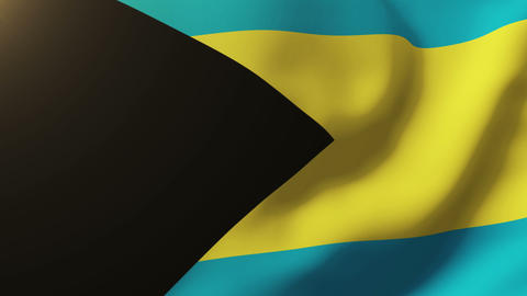 Bahamas flag waving in the wind. Looping sun rises style. Animation loop Animation