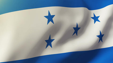 Honduras flag waving in the wind. Looping sun rises style. Animation loop Animation