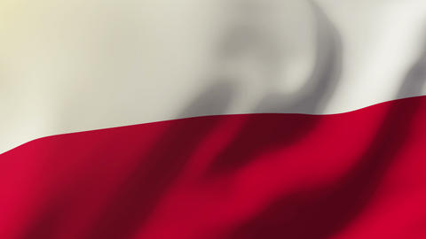 Poland flag waving in the wind. Looping sun rises style. Animation loop Animation