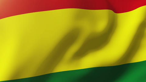 Bolivia flag waving in the wind. Looping sun rises style. Animation loop Animation