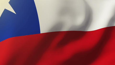 Chile flag waving in the wind. Looping sun rises style. Animation loop Animation
