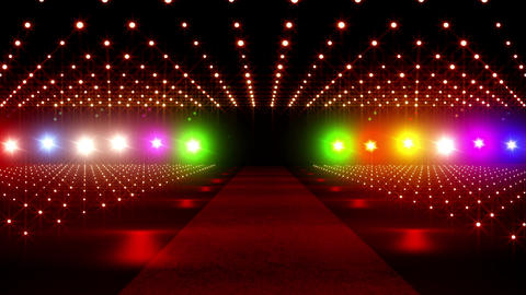 On The Red Carpet 15 colorful lights Stock Video Footage