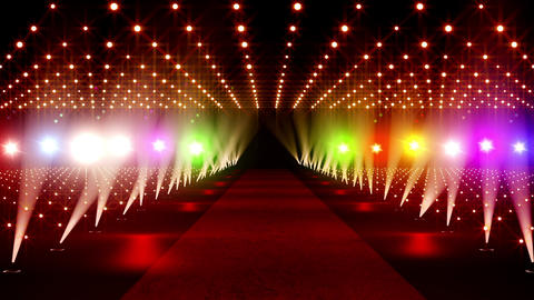 On The Red Carpet 17 colorful lights Animation