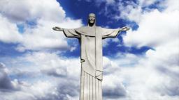 Rio Jesus Clouds Timelapse 02 Stock Video Footage