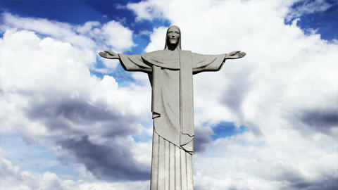 Rio Jesus Clouds Timelapse 02 Animation