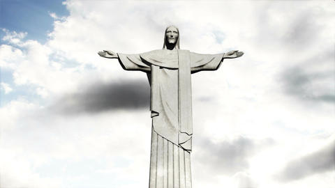 Rio Jesus Clouds Timelapse 04 Animation