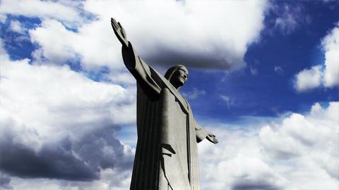 Rio Jesus Clouds Timelapse 06 Stock Video Footage
