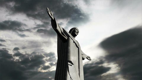 Rio Jesus Clouds Timelapse 08 Stock Video Footage