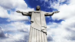Rio Jesus Clouds Timelapse 10 Stock Video Footage