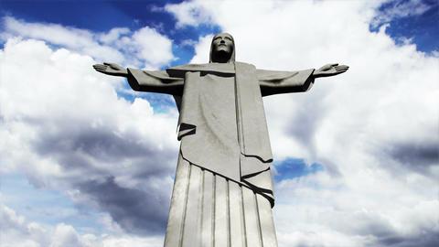 Rio Jesus Clouds Timelapse 10 Animation